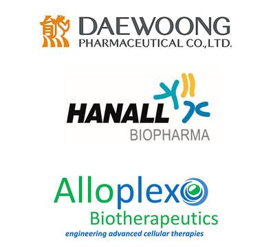 CI of Daewoong Pharmaceutical, Hanall Biopharma and Alloplex